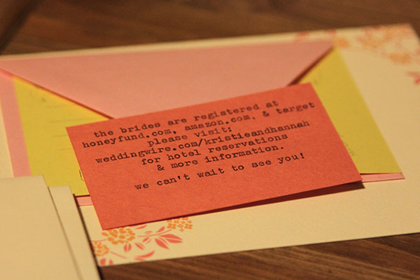 Detail card typed on vintage typewriter