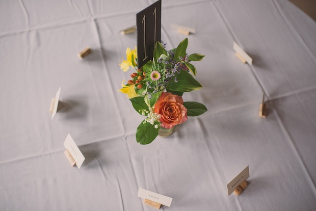 DIY cork placecard holders / Love + Perry Photography