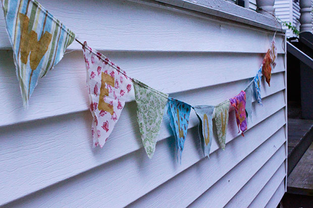 """""""We Love You"""" bunting"""