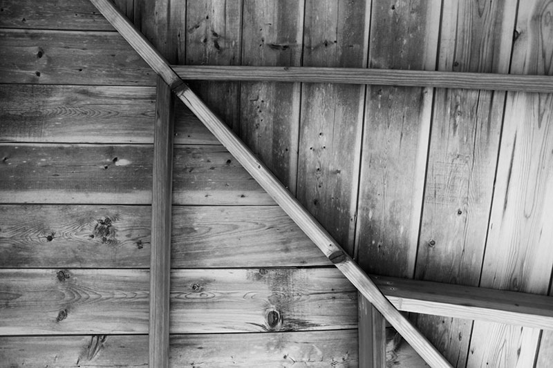 Old wooden ceiling