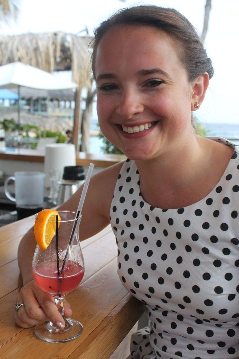 At the pool bar, Avila Hotel, Curacao