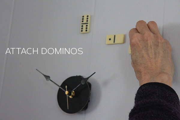 DIY domino clock