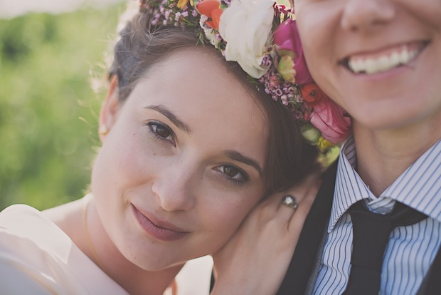 A bright and bold flower crown / Love + Perry Photography