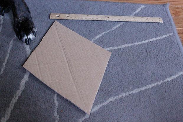 DIY bunting with scrap fabric