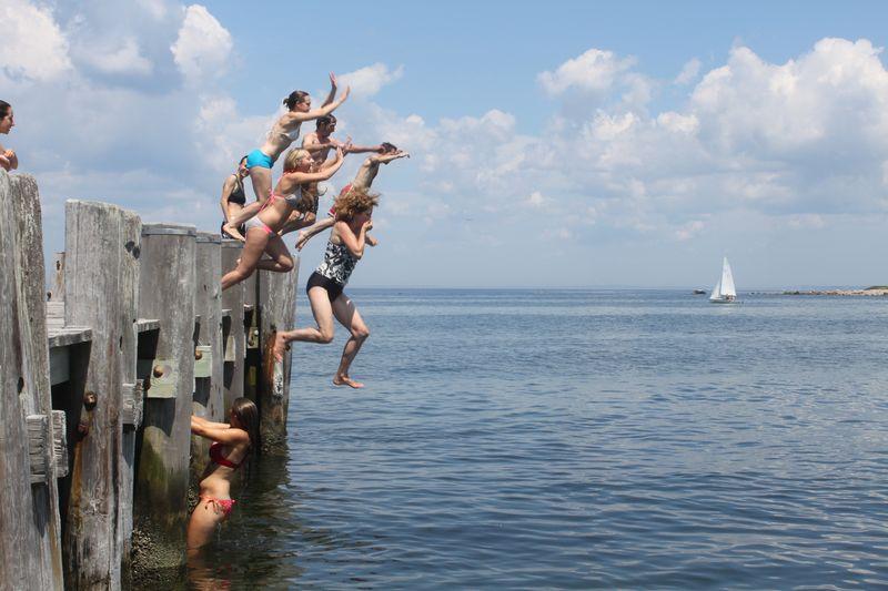 Jumping off Big Pier