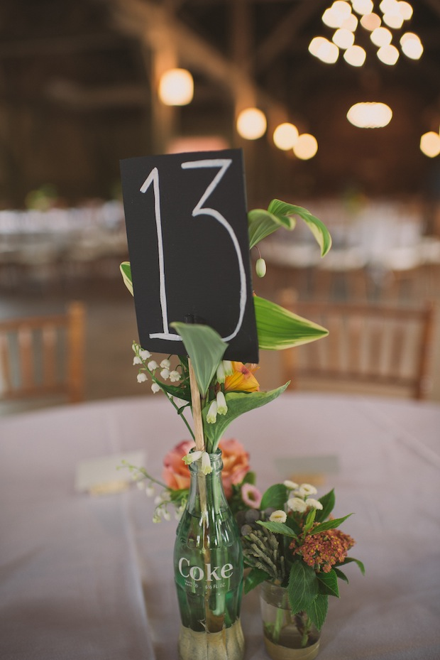 Handmade chalkboard table number signs / Love + Perry Photography