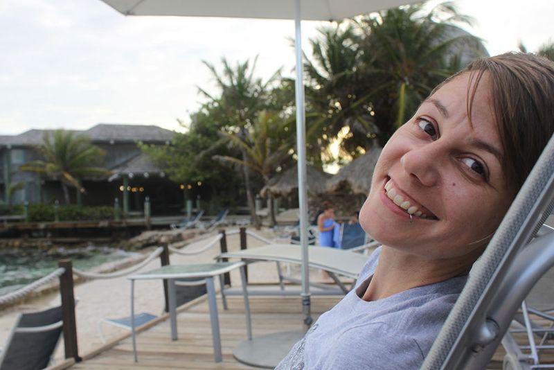 At the beach, Curacao