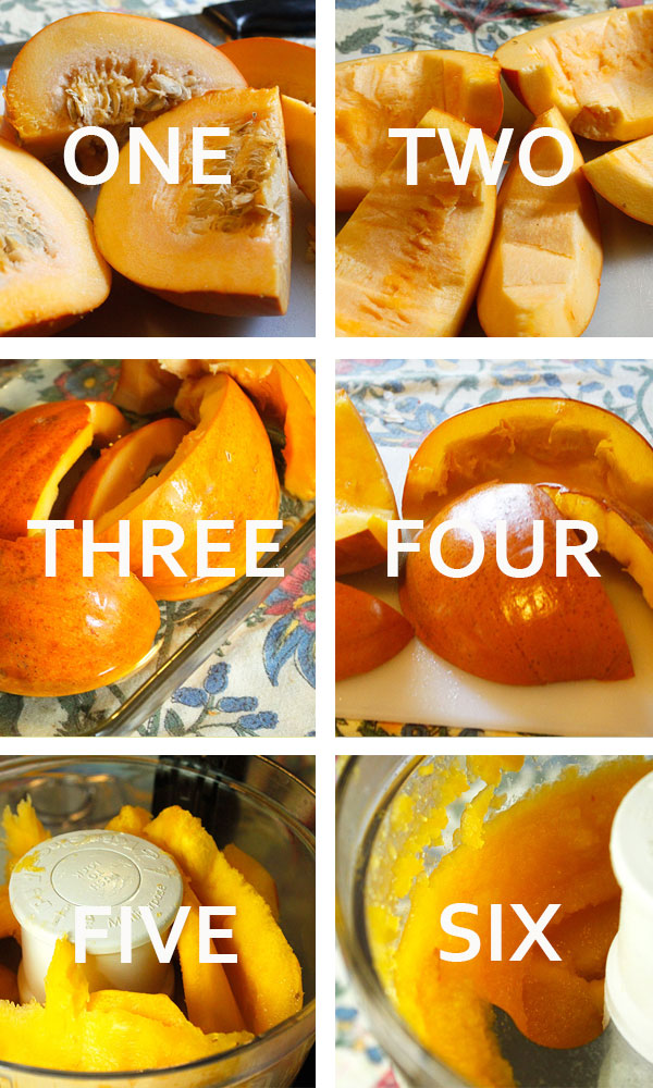 Make your own pumpkin puree -- never buy that canned stuff again!