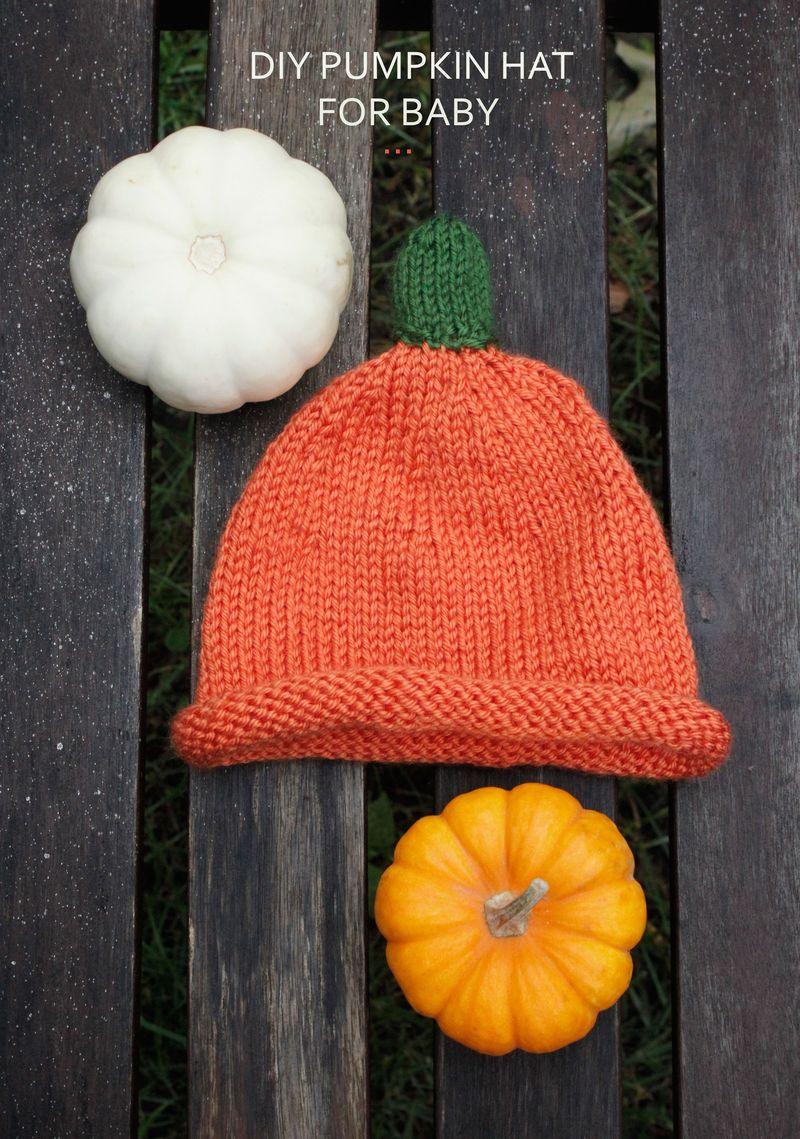 Baby pumpkin hat (free pattern!)