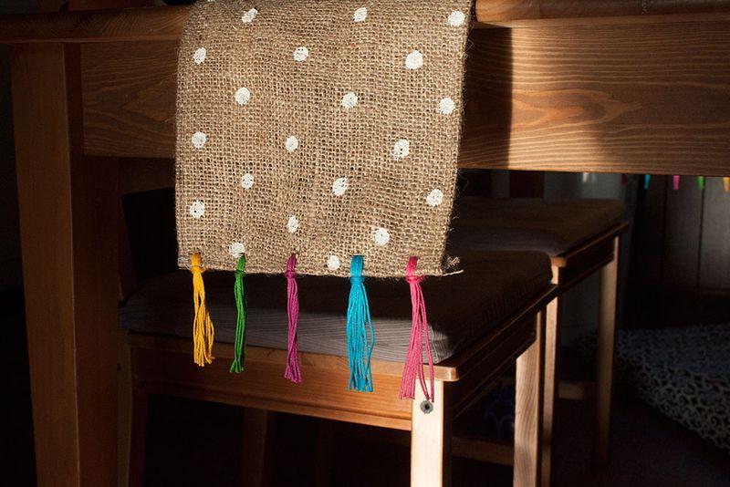 Make this festive, colorful polka dot table runner!